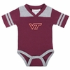 Maroon Football Stripe Baby Creeper
