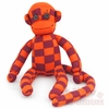 Maroon & Orange Checkered Sock Monkey