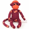 Maroon & Orange Football Sock Monkey