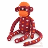 Maroon Polka Dot Sock Monkey