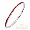 Maroon Rhinestone Bangle Bracelet