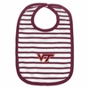 Maroon Stripe Virginia Tech Baby Bib