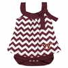 Maroon Virginia Tech Baby Chevron Dress with Snap Suit