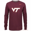 Maroon Virginia Tech Logo Long Sleeve Tee by Nike
