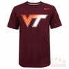 Maroon Virginia Tech Nike Gradient Logo Shirt
