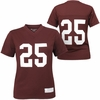 Maroon Women's #25 Football Jersey