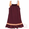 Maroon and Orange Toddler Ribbon Dress