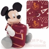 Mickey Mouse with VA Tech Blanket