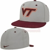Nike Dri-FIT Virginia Tech Fitted Grey Twill Hat