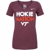 Nike Women's Virginia Tech Hokie Nation V-Neck Tee