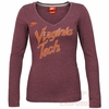 Nike Womens Virginia Tech Long Sleeve Script Tee