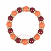 Orange and Maroon Stretch Bracelet