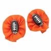 Orange Football Hair Clippies Set