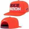 Orange Hokie Nation Nike Pro Snapback Hat