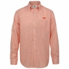 Orange Tattersall Virginia Tech Long Sleeved Button Up by Cutter and Buck