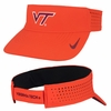 Orange Virginia Tech Dri-FIT Visor by Nike