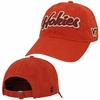Orange Virginia Tech Hokies Cursive Applique Hat