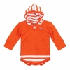 Orange Virginia Tech Infant Striped Hooded Creeper