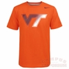 Orange Virginia Tech Nike Gradient Logo Shirt