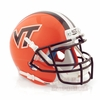 Orange Virginia Tech Schutt Mini Helmet