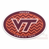 Oval Virginia Tech Hokies Chevron Decal
