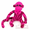 Pink and Maroon Zebra Print Sock Monkey