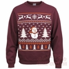 Snowman Christmas Sweater Fleece