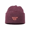 Striped Virginia Tech Knit Infant Hat