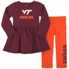 Toddler Girls Virginia Tech Flounce Dress and Leggings
