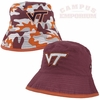 Toddler's Virginia Tech Camo Reversible Bucket Hat