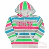 Toddlers Virginia Tech Bright Stripe Zip-Up Hoodie