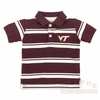 Toddlers Virginia Tech Maroon Striped Polo