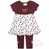 Toddlers Virginia Tech Polka Dot Dress Outfit