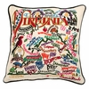 Virginia Landmarks Embroidered Pillow