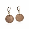 Virginia Tech Antique Style Bronze Earrings