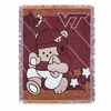 Virginia Tech Baby Bear Throw Blanket