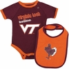Virginia Tech Baby Bodysuit and Bib Set
