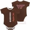 Virginia Tech Baby Football Snap Suit