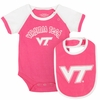 Virginia Tech Baby Neon Snapsuit & Bib Set