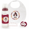 Virginia Tech Baby Pacifier Bottle and Bib Gift Set