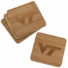 Virginia Tech Bamboo Coasters Set