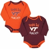 Virginia Tech Biggest Fan Baby Bodysuit Set