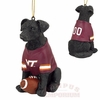 Virginia Tech Black Lab Dog Ornament