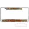 Virginia Tech Camo Domed License Plate Frame