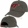 Virginia Tech Charcoal Crew Adjustable Cap