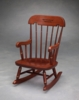 Virginia Tech Childs Rocking Chair with Cherry Finish