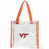 Virginia Tech Clear Stadium Tote Bag
