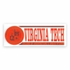 Virginia Tech College of Architecture Decal