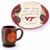 Virginia Tech Cookies for Santa Plate and Mug Set