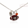Virginia Tech Crystal Spirit Football Necklace